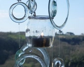 Eco friendly windchimes - Clear as it should be - tea light holder
