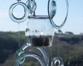 Eco friendly windchimes - Clear as it should be - tea light holder