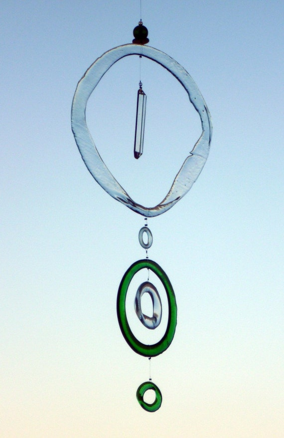 Sunset catcher Suncatcher made with recycled glass