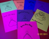 Buddhist cards 8 in a set quarterfold