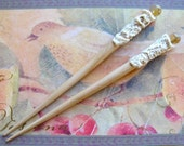 Agate and Old Lace . Hair Sticks . Pair