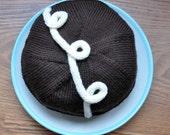 Chocolate Loop-d-Loop Cupcake Beret Custom Order