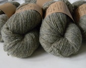 Sage Green Tweed Lambswool Recycled Yarn -  Super Fine Lace - 595yards