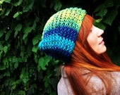 Warm Starry Night Knitted Folk Slouch (Made to Order)