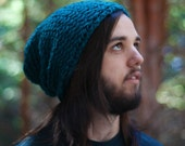 Teal Knitted Urban Slouch (Made to Order)