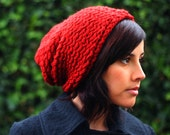 Brick Orange/Red Knitted Urban Slouch (Made to Order)
