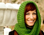 Avocado Green Infinity Scarf Warm and Soft (Made to Order)