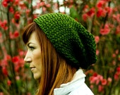 Zelda Green Knitted Urban Slouch BESTSELLER (Made to Order)