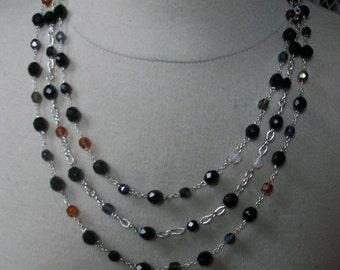 Multi strand crystal necklace