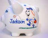 Mr. Met Piggy Bank Personalized