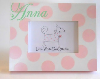 Personalized Hand-Painted Picture Frame Girl