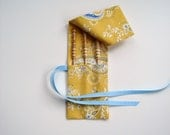 Crochet Hook Bag w Three Brittany Hooks in Fabric Case
