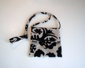 Bag Purse Pouch Sac Small Upholstery Black Graphic Fabric Shoulder Bag