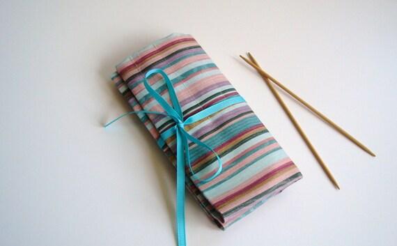 Knitting Needle Case, DPN Case, Roll Up Organizer