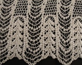 Vintage Venise Lace Trim Wide Scalloped Edge  Ivory