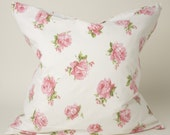 Antique Roses feather pillow