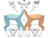 Deer - mood - illustration - 8x10 print
