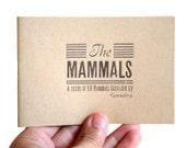 The mammals - illustrated book - zine - vintage