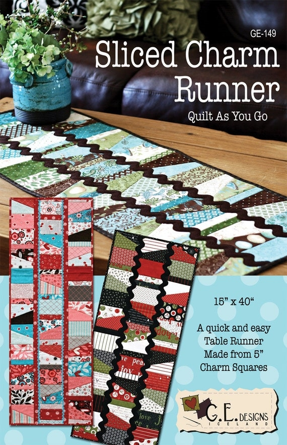 Sliced Charm Runner - Quilt Pattern