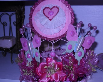 Childs or Baby girls pink Adorable Whimsical  princess crown