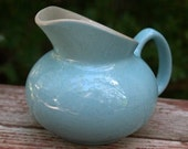 Vintage Sky Blue Ceramic Creamer