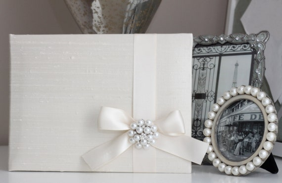 Ivory & Pearl Wedding Guest Book