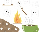Marshmallow Clip Art Image Package - Digital Scrapbooking Embellishments