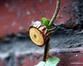 Wood Ring Tree Branch Slice Adjustable Ring