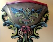 sconce wall pocket hand painted Baroque Rococo