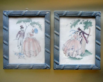 Maude Eggemeyer Prints of Romantic Couple Vintage Pair