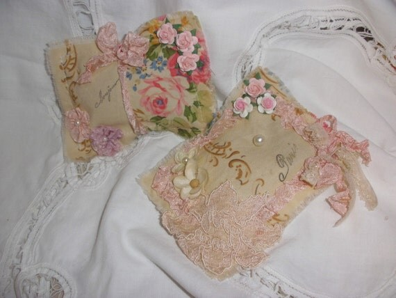 Faded French Roses Pair of Sweet Lavender Sachets