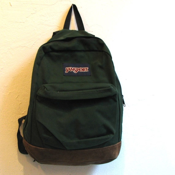 SUEDE LEATHER jansport backpack UNISEX made in the USA