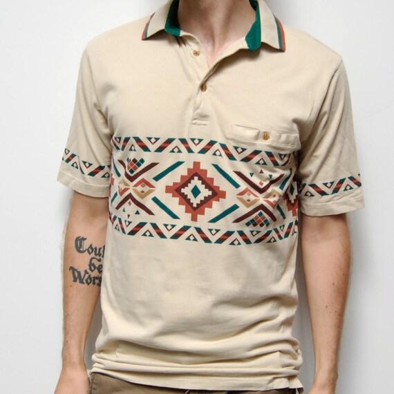 NATIVE AMERICAN short sleeve COTTON polo shirt