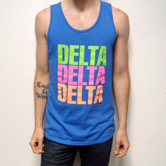 NEON tank top COTTON Delta Delta Delta