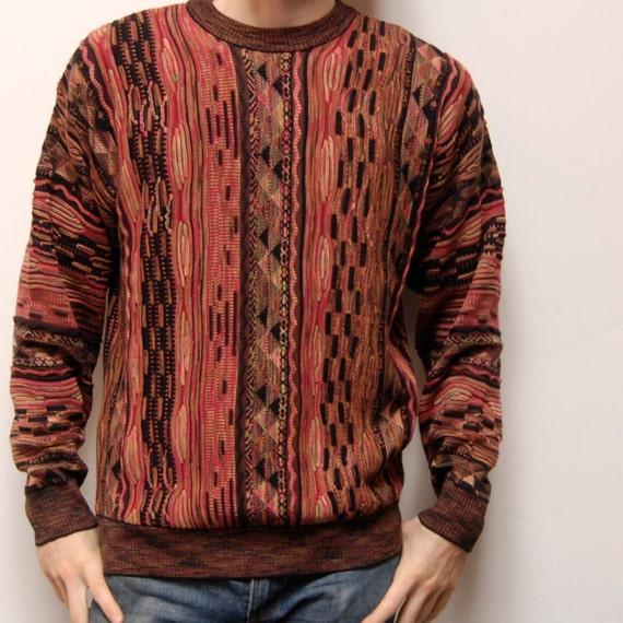 COOGI style medium ABSTRACT design knit sweater