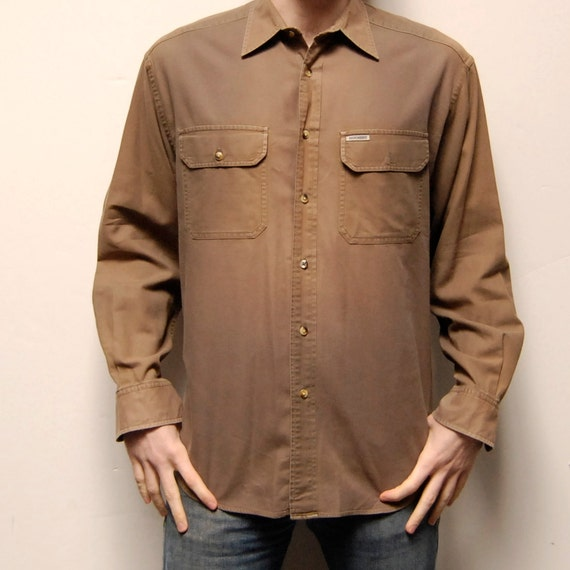 SAFARI solid blue soft COTTON long sleeve button up