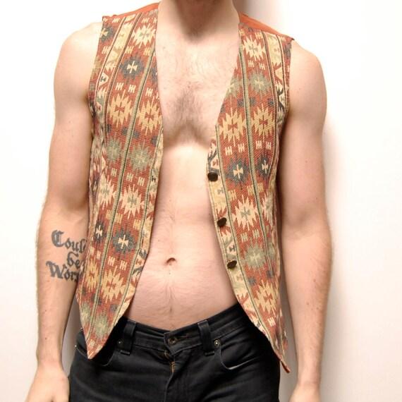 SOUTHWESTERN button up NATIVE AMERICAN vest