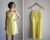 Clearance...Vintage 50s style yellow sundress