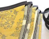 Large Fabric Bunting - Morning Light in Yellow and Gray 2