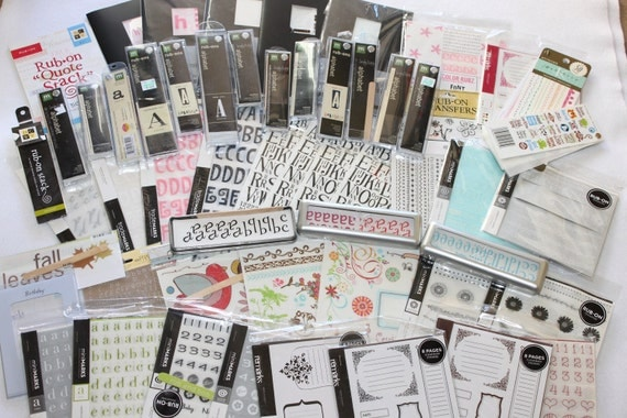 Rub On Lettering, Numbers, Pictures: Large Lot Destash ON SALE