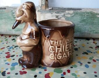 Vintage Ceramic Cigar Holder Big Chief's