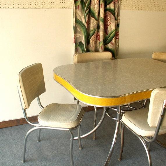 Vintage Chrome Kitchen Table: Unavailable Listing On Etsy