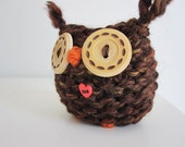 Knitted Woodland Owl- love owl