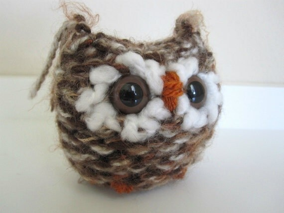 Knitted Plush Toy Owl