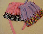 Personalized Crayon Aprons