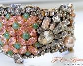 Rhinestone Cuff Bracelet- Vintage Glamour- MissDaisy
