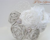 Couture Dupioni Silk Rosette Cluster Bridal Headpiece or Headband
