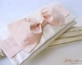 Silk Dupioni Big Bow Bridal Clutch- OOAK