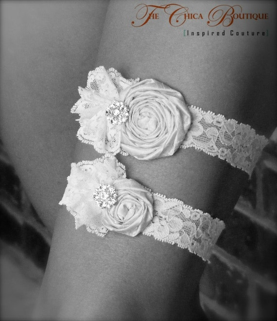 Wedding Garter Set- Ruffles and Lace- The Chica Boutique Original