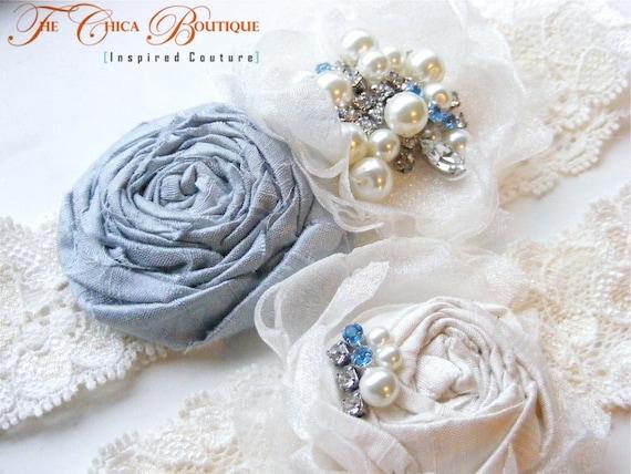 Something Blue- Wedding Garter Set- Chica Luxe Series